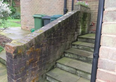 Steps & Wall before
